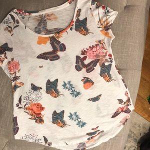 Lucky Brand Women's Butterfly Top